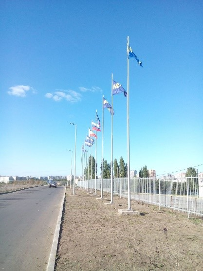 монтаж флагштоков